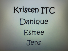 Kristen ITC