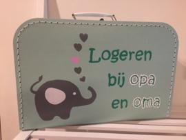 Koffer mintgroen 25 cm
