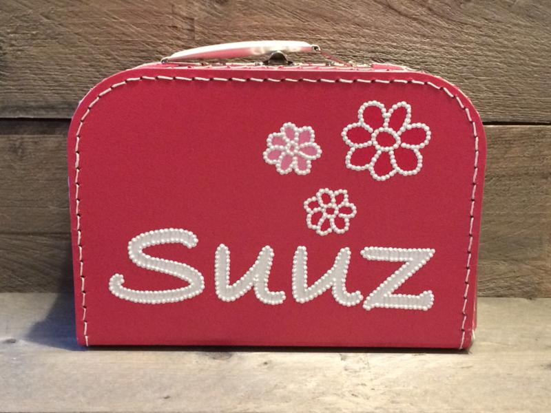 Koffer fuchsia roze 30 cm