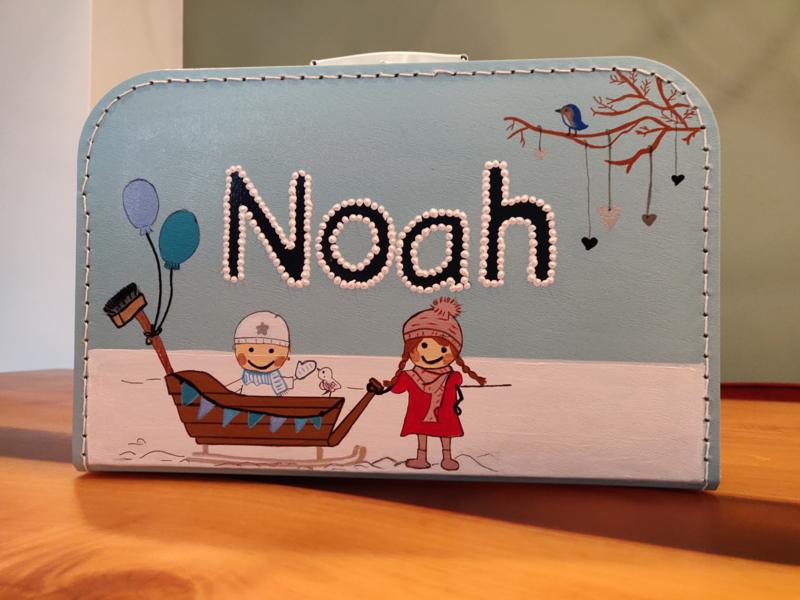 Koffertje van 35 cm + Beschildering