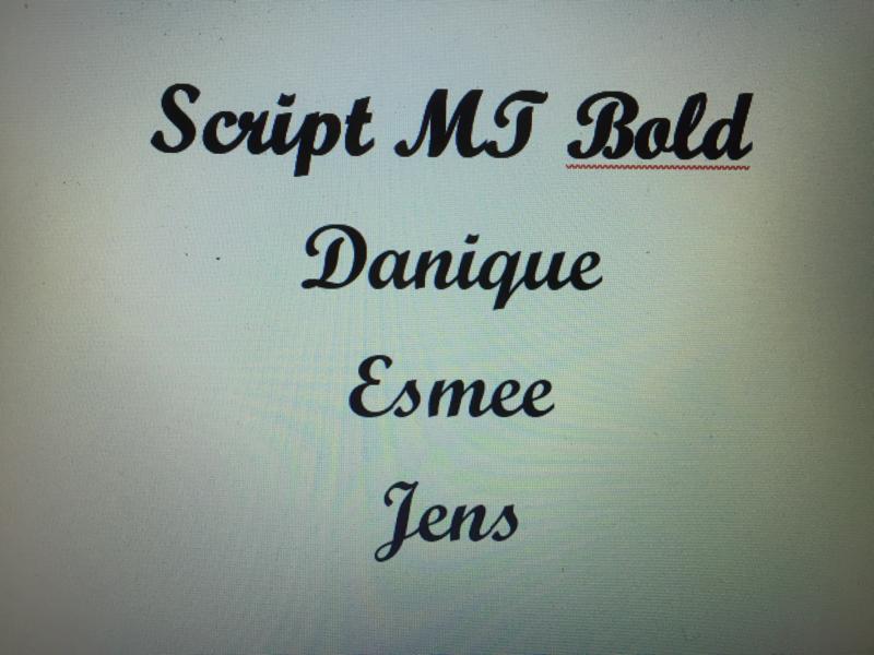 Script MT Bold