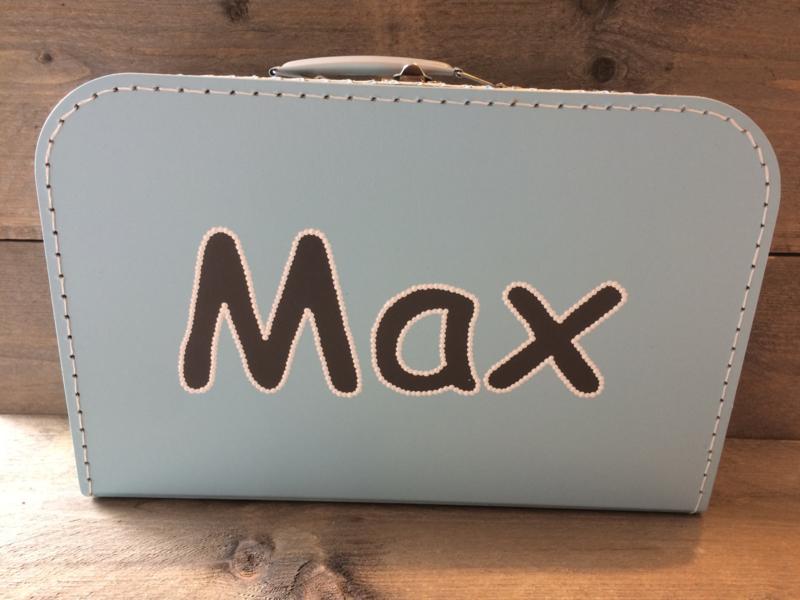 Koffer lichtblauw 25 cm