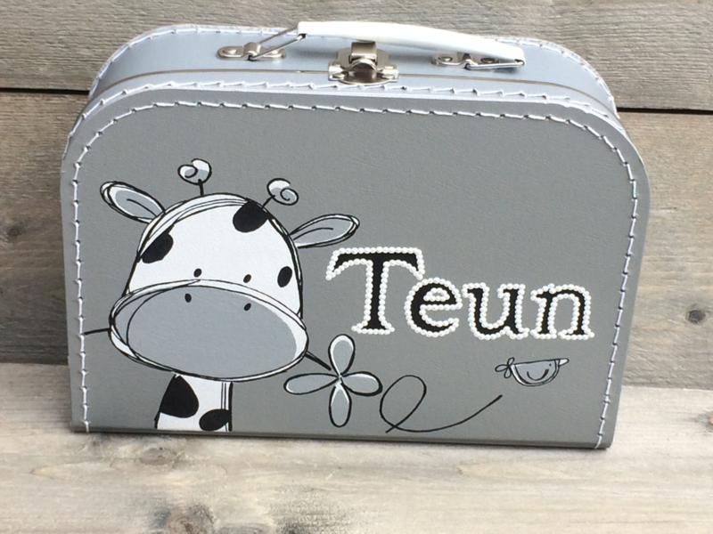 Koffer zilver 25 cm