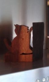 Katje aan boom