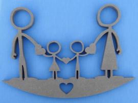 Kraamcadeau Happy family nr 1 Valchromat