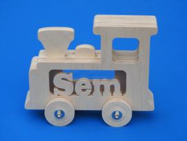 Spaarpot met eigen naam model Trein.