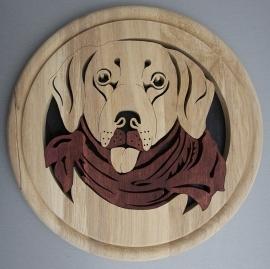 Wandbord hout Labrador