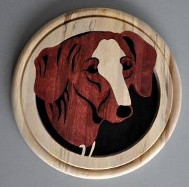 Wandbord hout Tekkel.