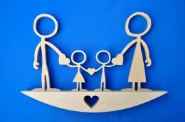 Mutterschaftsgeschenk, Happy Family Mutter, Vater, Sohn, Tochter. No. 1