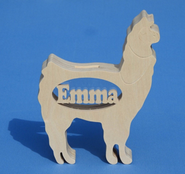 Spaarpot met eigen naam model Alpaca.