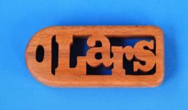Sleutelhanger Robuust 1,2 cm met eigen naam hout art.nr. 15001