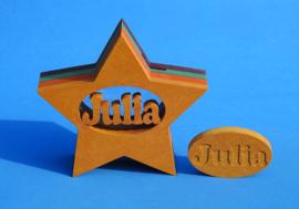Sparbüchse Spardose Modell Stern mit eigenem Namen als Mutterschaftsgeschenk.