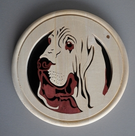 Wandbord Bloedhond