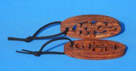 Sleutelhanger Ovaal 1,2 cm met eigen naam art.nr 15007
