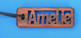 SSchlüsselanhänger handgefertigt mit Ihrem Namen. art.nr. 15005