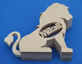 Spaarpot met eigen naam model leeuw.
