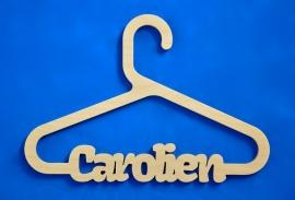 Kledinghanger model Carolien met eigen naam.