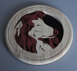 Wandbord hout Schotse collie