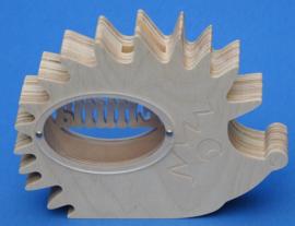 Spaarpot hout met eigen naam model Egel.
