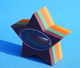 Spaarpot met eigen naam model Ster van gekleurd Valchromat.