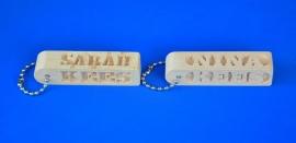 Schlüsselanhänger 4 Seiten mit eigenem Namen,  Artikelnummer 15025 pos.