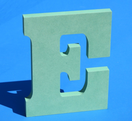 Letter of cijfer  van gekleurd 19 mm dik Valchromat.