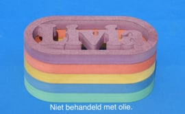 Spaarpot met eigen naam model Daniel van gekleurd Valchromat.