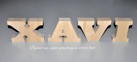 Naam van losse hoofd letters hout.