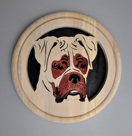 Wandbord hout Boxer