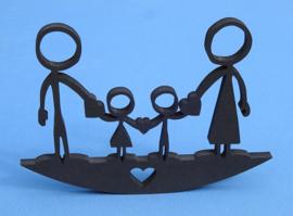 Mutterschaftsgeschenk, Happy Family Mutter, Vater, Sohn, Tochter. No. 1 Valchromat