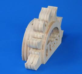 Spaarpot hout met eigen naam model Zon.
