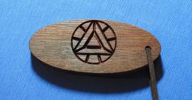 Schlüsselanhänger handgefertigt mit Ihrem Namen gefräst art.nr. 14009