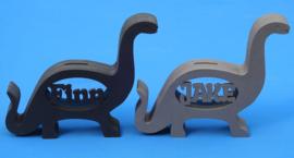 Spardose Dinosaurier  mit eigenem Namen aus gefärbtem Valchromat