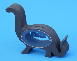 Spaarpot met eigen naam Dinosaurus van gekleurd Valchromat.