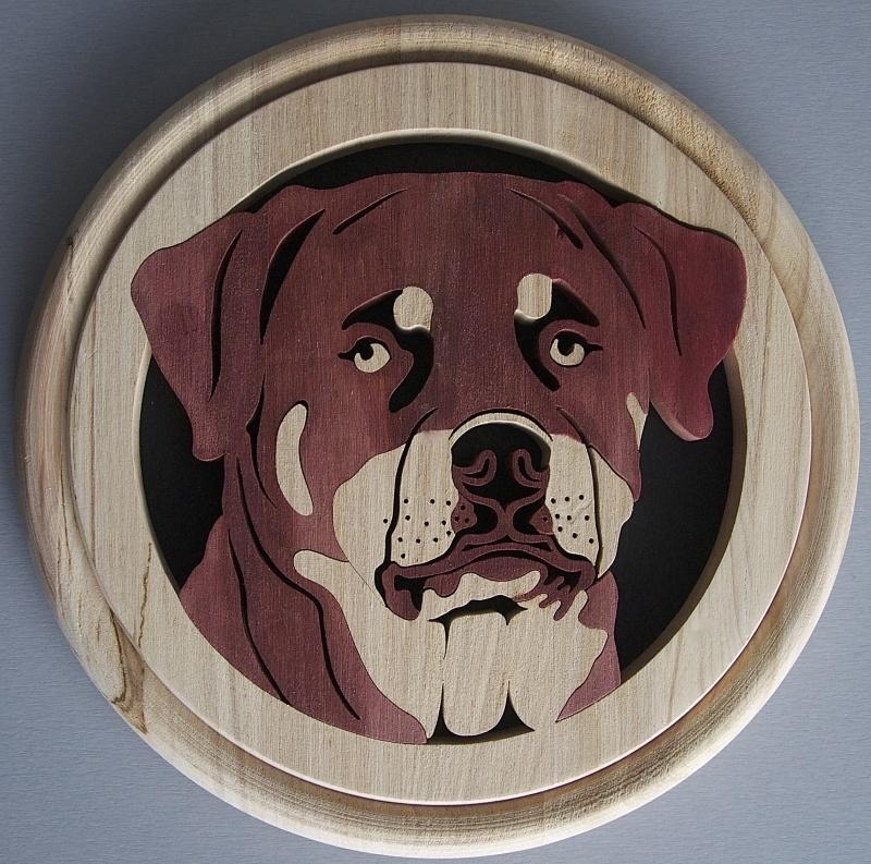 Wandbord hout Rottweiler