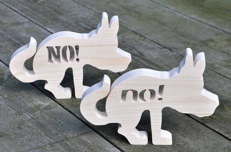 Gebodsbord voor de hond.