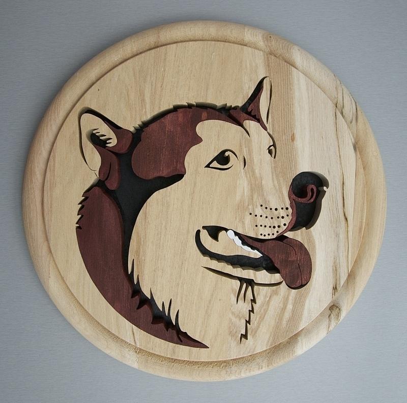 Wandbord hout Husky