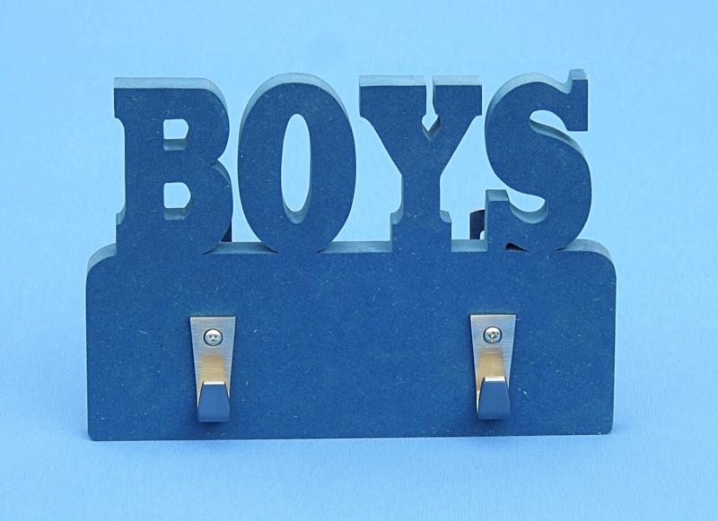 Kapstok met eigen naam model Boys gekleurd.