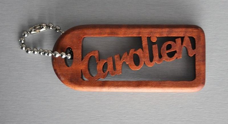 Sleutelhanger hout Robuust 1,2 cm met eigen naam art.nr. 14002