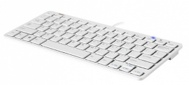 ErgoLine Design White Compact keyboard USB
