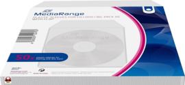 MEDIARANGE PLASTIC SLEEVES voor CD-DVD