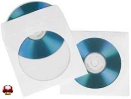 100 CD / DVD HOESJES  papier