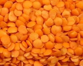 Linzen / Rode linzen gespleten  / Masoor dal split / Turkije / teelt: bio /Oogstjaar 2019 / 0,5 kilo