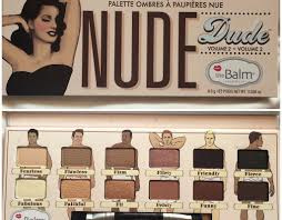 The Balm - Nude Dude Oogschaduw + gratis eyeliner + gratis make up tasje