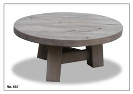 687 salontafel van 100 cm rond van Massief Eiken Koopmansmeubelen voor een lage prijs
