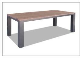 7500 / 7508 een strakke industriële eettafel met een  lengte van 160,180,200,220 of 240 cm voor de scherpste prijs !