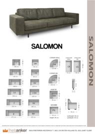 SALOMON :van het Anker leverbaar van  club tot 4 zitter en als hoek bankstel