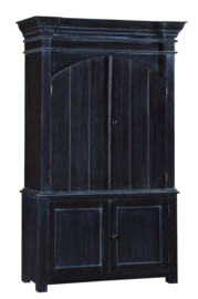 GAYA KAST uitgevoerd in oud zwart 140 cm breed