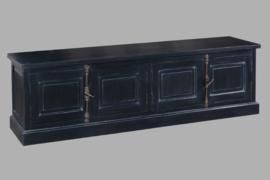 MAKASSAR OUD ZWART | Tv-meubel 200 cm. breed