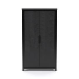 Cod zwart  Collectie 2 deur Kast 90 cm breed 90 voor de laagste prijs